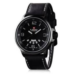 Relógio Naviforce 9028 Couro Genuíno (Consulte o Catálogo)