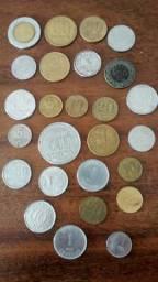 Lote de 42 moedas antigas
