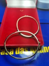 Bracelete Ouro 18 Kilates Oco 5x2mm x6 Mm x 5 mm - 9.30 Gramas