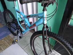 Bicicleta 26 suspensão no meio LER DESCRIÇÃO