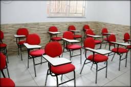 Cadeira universitária estofada tecido/prancheta lateral com ou sem perfil à vista dinheiro