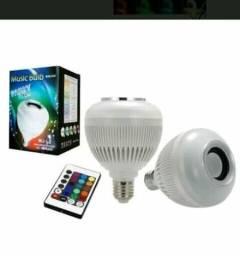 Bluetooth Lâmpada Luz Música com Controle Remoto