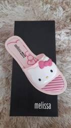Chinelo Slide Melissa - Hello Kitty (Rosa)
