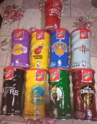 Lote de Latas de Nescau. Coleção NBA