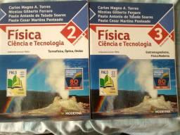 Livro Física Ciência e Tecnologia. Volumes 2 e 3.