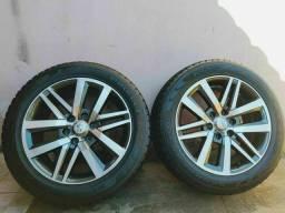 Vendo essas rodas aro 20 pneus semi novos 80% de borracha