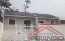 Casa nova c/ 44,69m², terreno livre nos fundos, Baln. Parque R$140.000,00