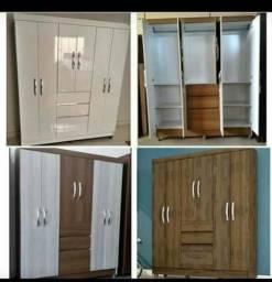 Promoçao guarda roupas novos de 7 portas so 399,99 pes de brinde *