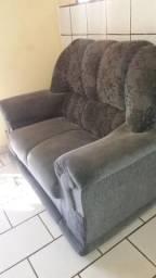 Sofá tecido 3x2 lugares cinza escuro