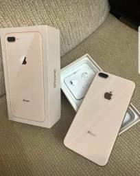 Iphone 8 plus rose Gold completo desbloqueado