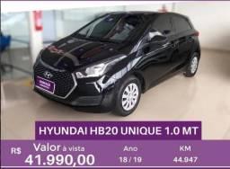 HYUNDAI HB20 1.0 UNIQUE 12V FLEX 4P MANUAL - 2019