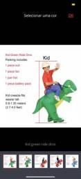 Fantasia inflável do Dinossauro