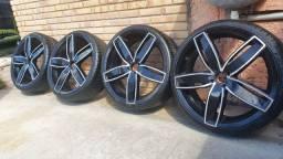 Vendo ou troco aro 20 4x100 pneus novos