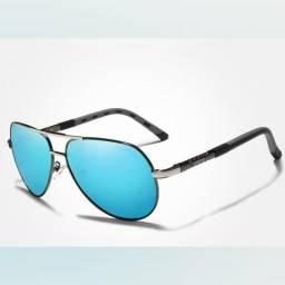 Óculos de sol azul clássico
