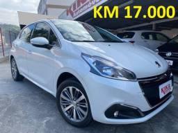 Peugeot 208 Griffe 1.6 Flex 5P Aut - Top de Linha ? Apenas 17.000 KM - Ano 2017