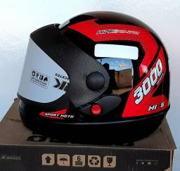 Capacete Automático Moto Modelo Mixs Protork 3000 Coleções