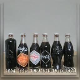 Coleção de mini garrafinha Coca-Cola