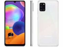 Smartphone Samsung Galaxy A31 128GB Branco 4G 4GB Ram Tela 6,4? Câm.Quádrupla + Selfie