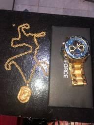 Título do anúncio: Relógio, Mais Corrente Moeda Antiga