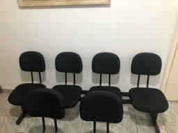 Longarina secretária para sala de espera e recepção