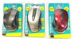 Mouse Sem Fio C/ Receptor Nano Usb 2.4ghz