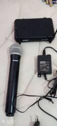 Microfone sem fio shure semi novo