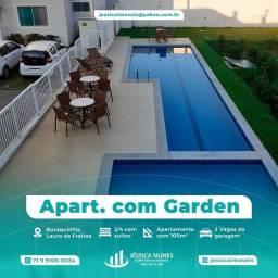 Título do anúncio: Apartamento térreo Garden, com 110 m² totais, 2 suítes em Buraquinho, Lauro de Freitas - B
