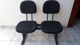 Cadeira para escritório dupla fixas para recepção