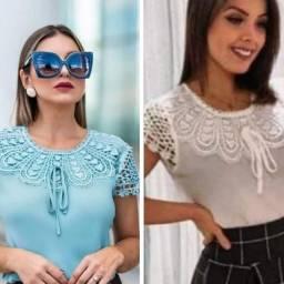 Blusa c renda e pérolas - Moda CRISTÃ/EVANGÉLICA