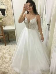 Vestido Noiva Renda Civil Cartório Casamento Pre Wedding