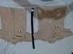 Camisas colégio militar+cinto usado
