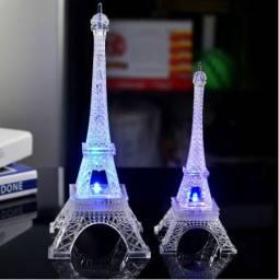 Mini Luminária De Led Colorida Romântica / Torre Eiffel / Glow Paris