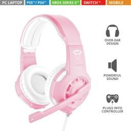 Título do anúncio: [Novo] Headset Gaming GXT310P Radius Rosa Trust