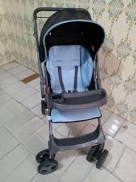 Título do anúncio: Carrinho De Bebê Gero  Galzerano Preto Azul