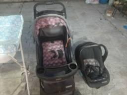 Combo de carrinho ,bebê conforto e banheira de pé