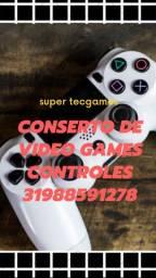 Manutenção controles e vídeo games
