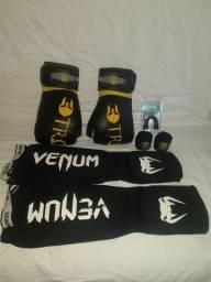 Kit para pratica de boxe e Muay Thai