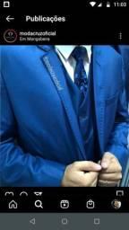 Terno especial para noivos - azul imperial