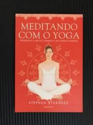 Livro meditando com yoga