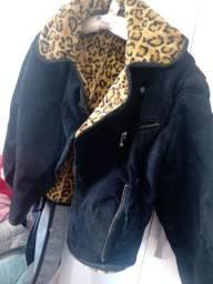 Casaco camurça tipo jaqueta