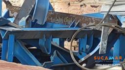 Estrutura metálica para roletes