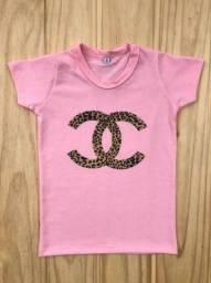 Blusa rosa bebê Chanel