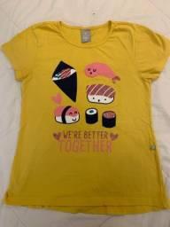 camiseta infantil hering - tamanho 14