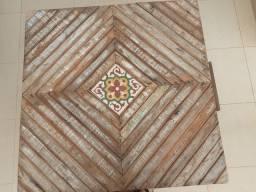 Mesa madeira maciça com 4 banquetas