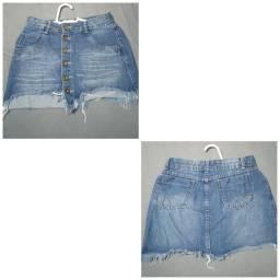 Saia Jeans e  short saia.