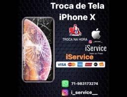 Troca de tela display iPhone X (delivery) capa+película  grátis