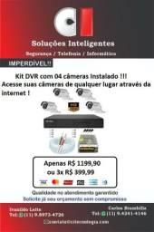 Kit segurança eletrônica   DVR com 04 câmeras instalado !!!