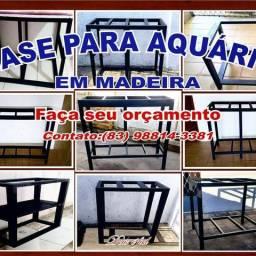Base para aquário em Madeira jatobá
