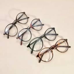 Armação de Óculos Feminino Vintage Blogueira