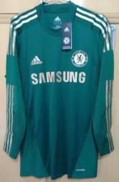 Camisa de Goleiro do Chelsea 2012/2013 Techfit de jogo Versão Jogador